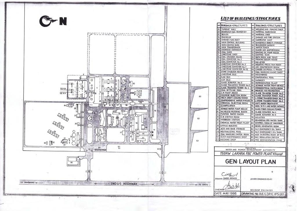 existing plant layout plan  126