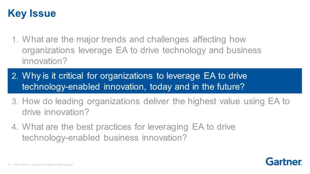 Enterprise Architecture and Technology Innovation Leadership
