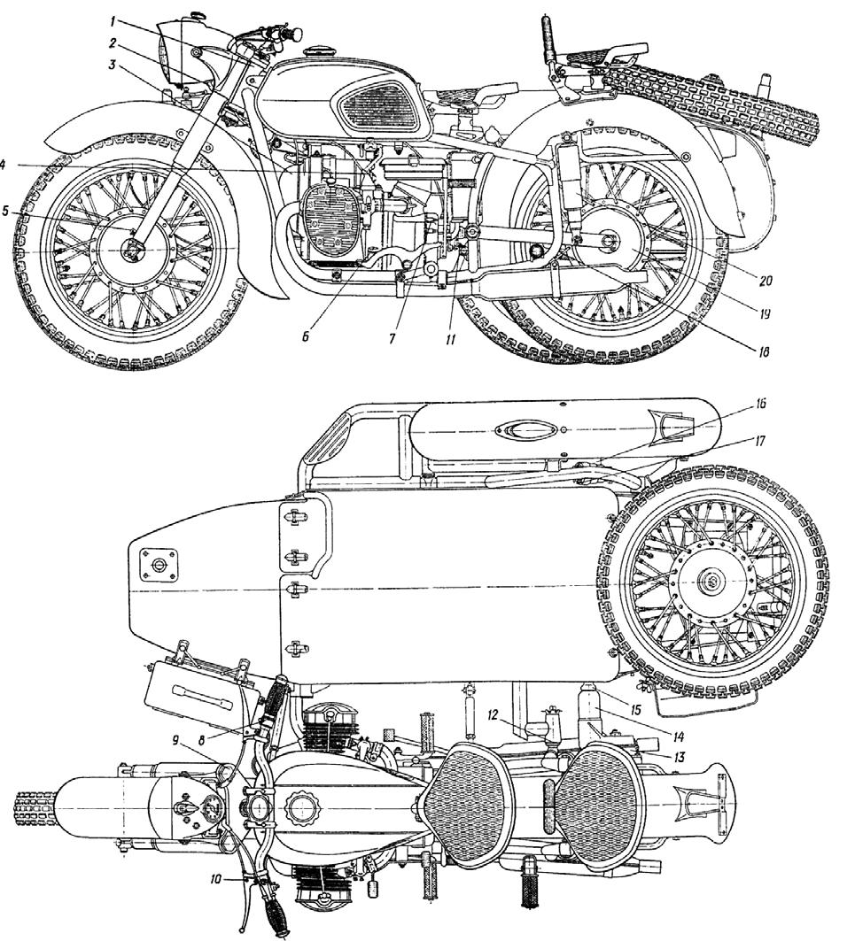 Russian Headlight Assemblies Part Iii Cavity For Dnepr K 1002 Bmw R11 Motorcycles Fuse Box Diagram Mb 750 And