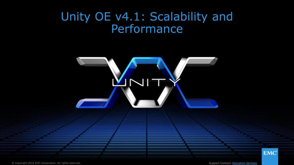 Welcome to Unity OE v4 1: Scalability and Performance  - PDF