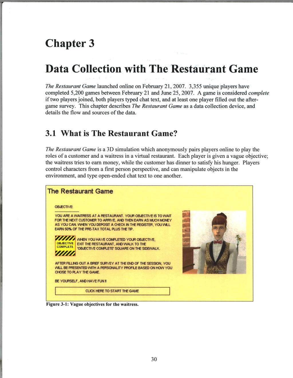 Learning Plan Networks In Conversational Video Games Pdf Track T Yellow Kartu Lama Chapter 3 Data Collection With The Restaurant Game Launched Online On February 21