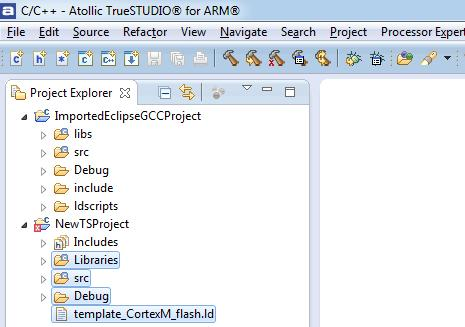Application Note AN1405: Migrating from other Eclipse/GCC