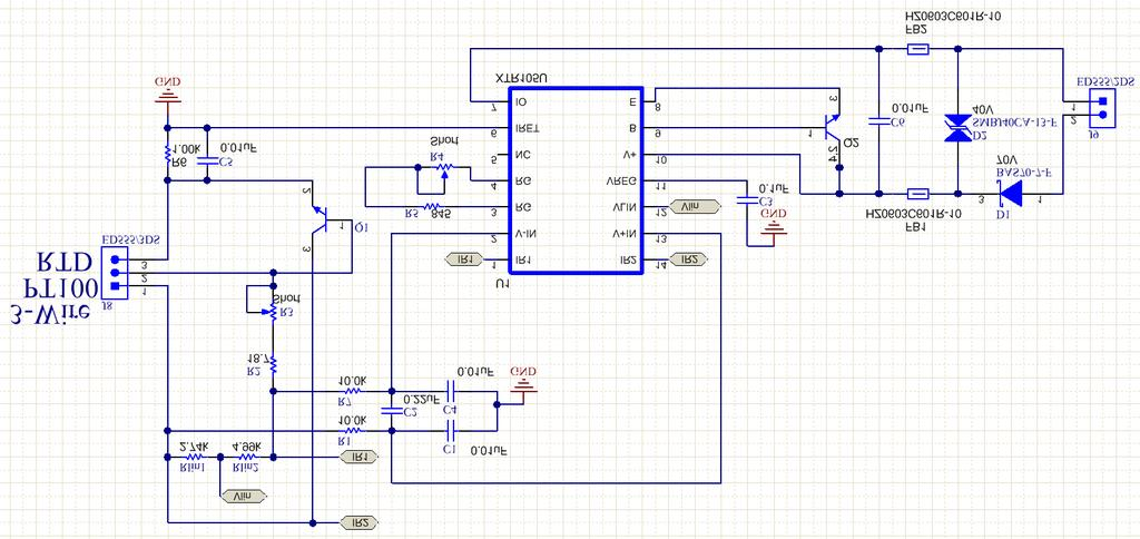 Circuit Schematic Diagram Pt100 Rtd Current Loop Transmitter Using on