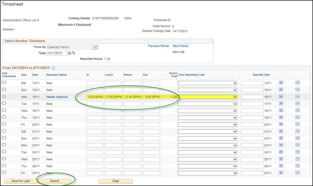 user guide entering a timesheet for adhoc claims pdf