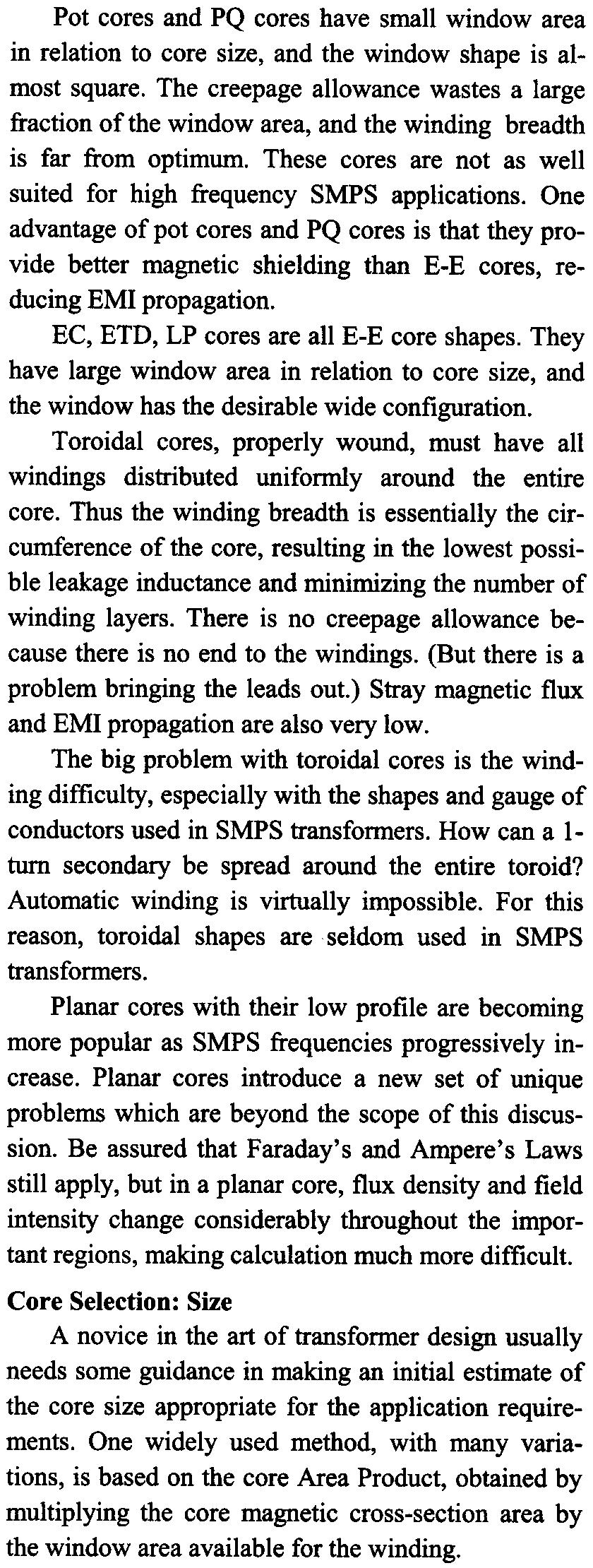 Magnetics Design For Switching Power Supplies Lloyd H Dixon Pdf Magnetic Circuit Of An Inductor With Ungapped Core One Advantage Pot Cores And Pq Is That They Provide Better Shielding Than