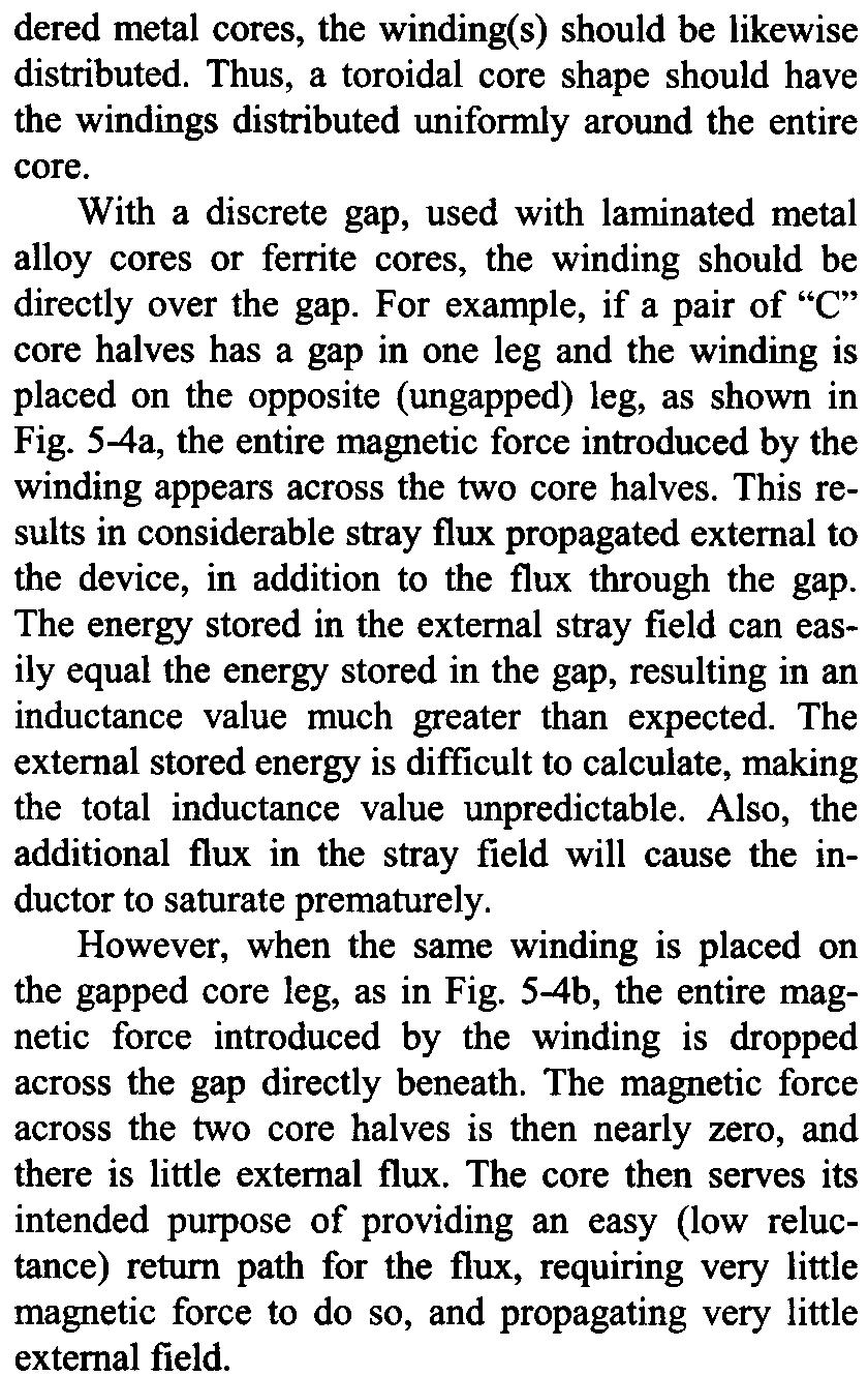 Magnetics Design For Switching Power Supplies Lloyd H Dixon Pdf Magnetic Circuit Of An Inductor With Ungapped Core Losses And Temperature Rise The Discussion In Section 4 Regarding Limits