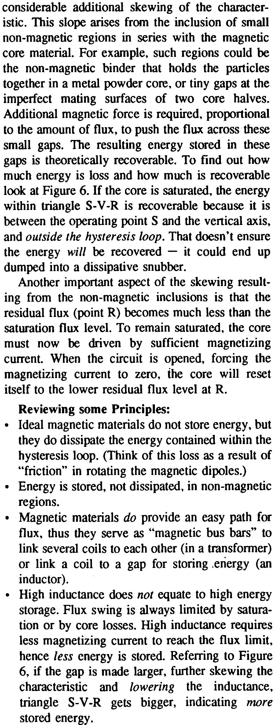 Magnetics Design For Switching Power Supplies Lloyd H Dixon Pdf Magnetic Circuit Of An Inductor With Ungapped Core The Entire Is Always Saturated But Inner Portion In New