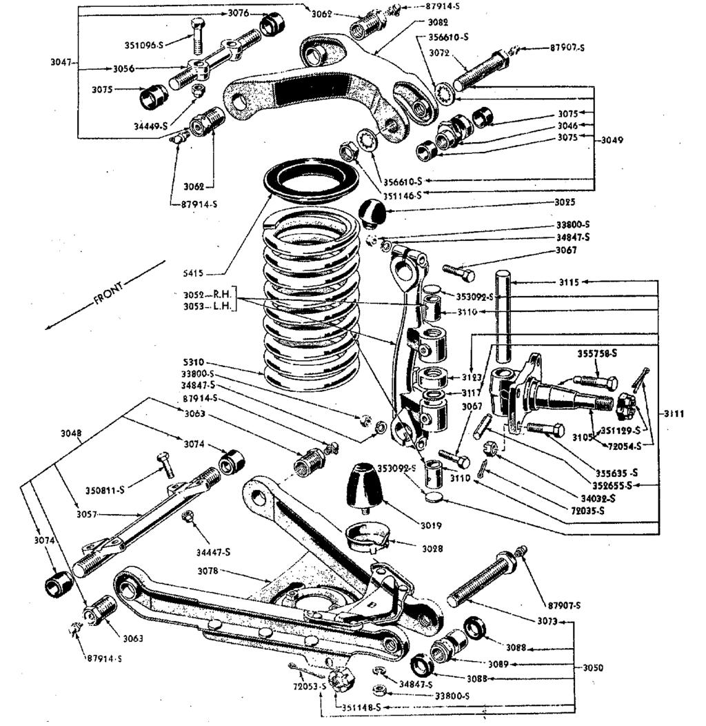 jan ford parts early ford pdf 1956 Crown Victoria Convertible 1949 53 8a 3111 king pin set 1949 53 8a 3111