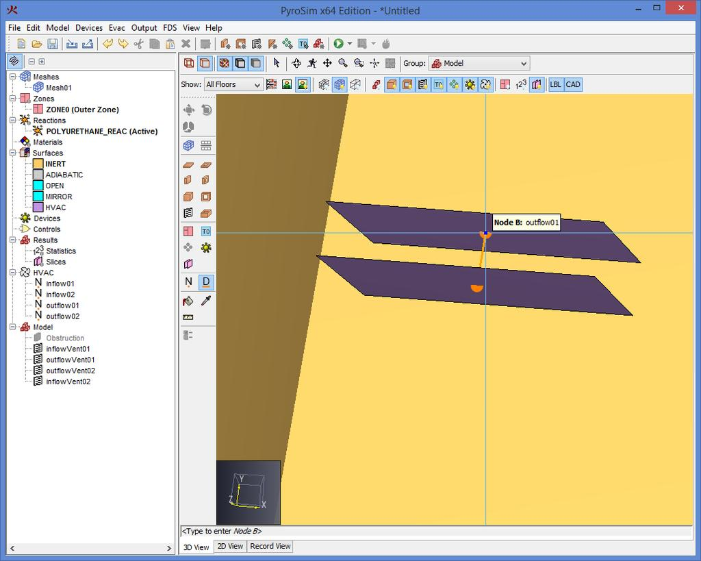 Jet Fan Create The Mesh In This Tutorial You Will Use 3d Hvac Drawing Images Using Duct Tool Attach Airflow To Objects