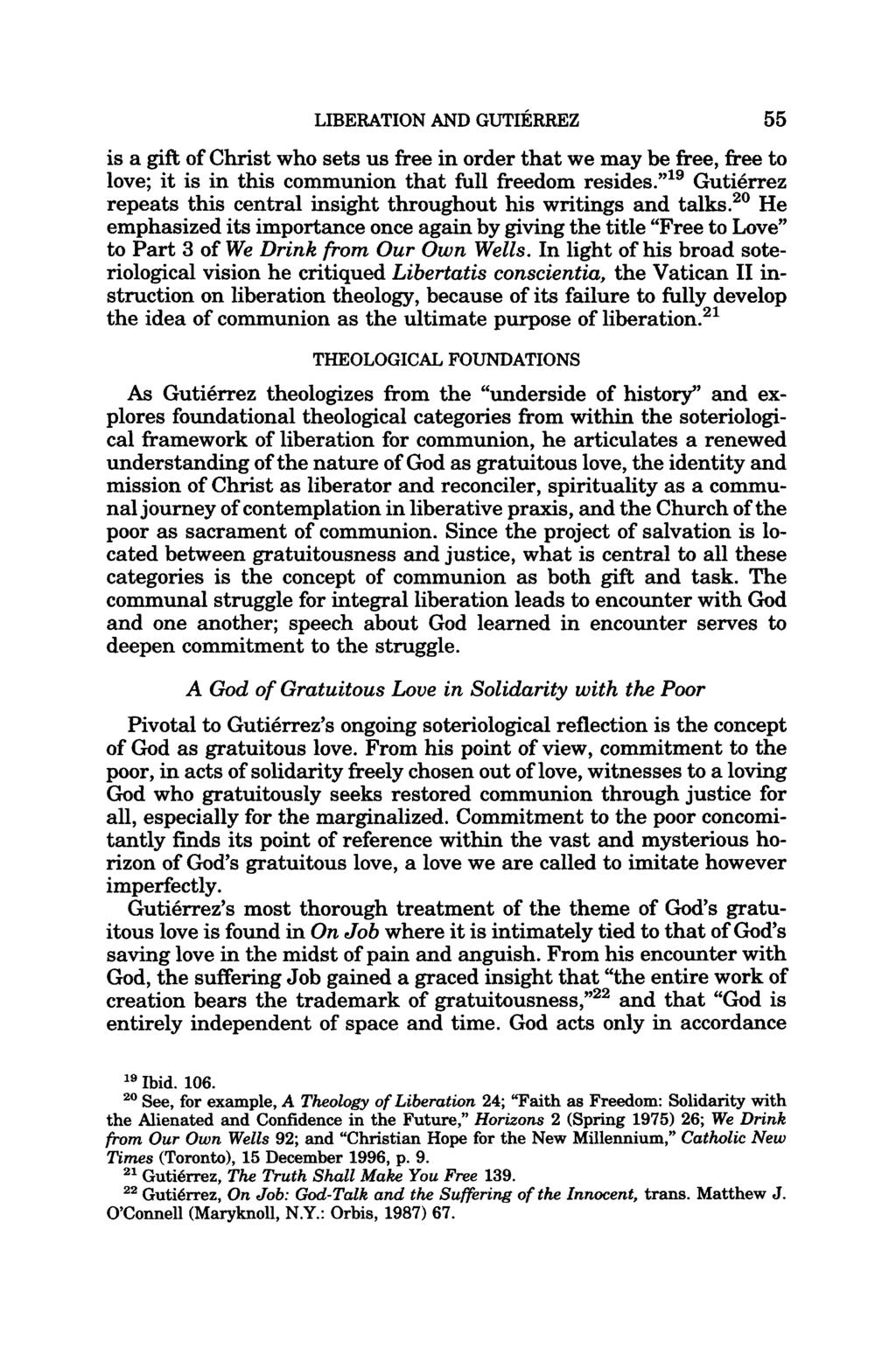 LIBERATION FOR COMMUNION IN THE SOTERIOLOGY OF GUSTAVO GUTIÉRREZ - PDF