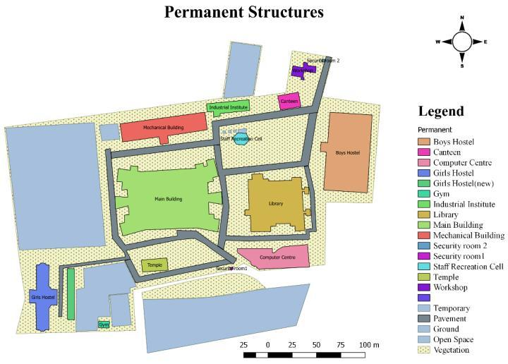 Development of 2D Map and 3D Model of GIT Campus using GIS