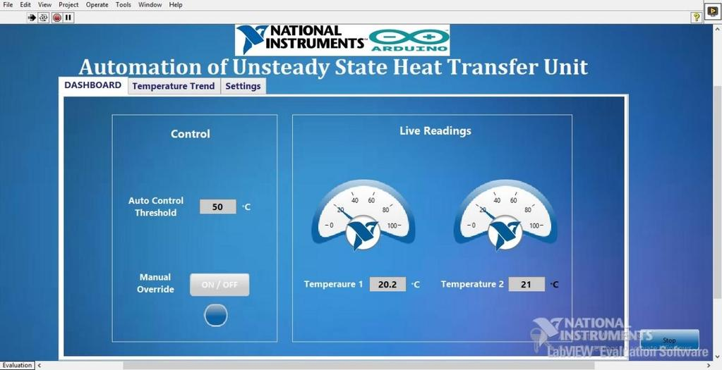Automation of Unsteady State Heat Transfer Unit Under Graduate Final