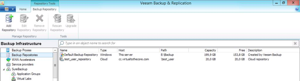 Veeam Backup & Replication v8: Cloud Connect Reference
