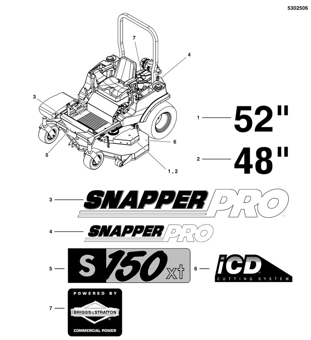 Parts Manual S150xt Series Zero Turn Riding Mower Models Pdf Cylinder Block Group Diagram And List For Briggs Stratton All Decal Brand Model S N 2016499706 Below Note