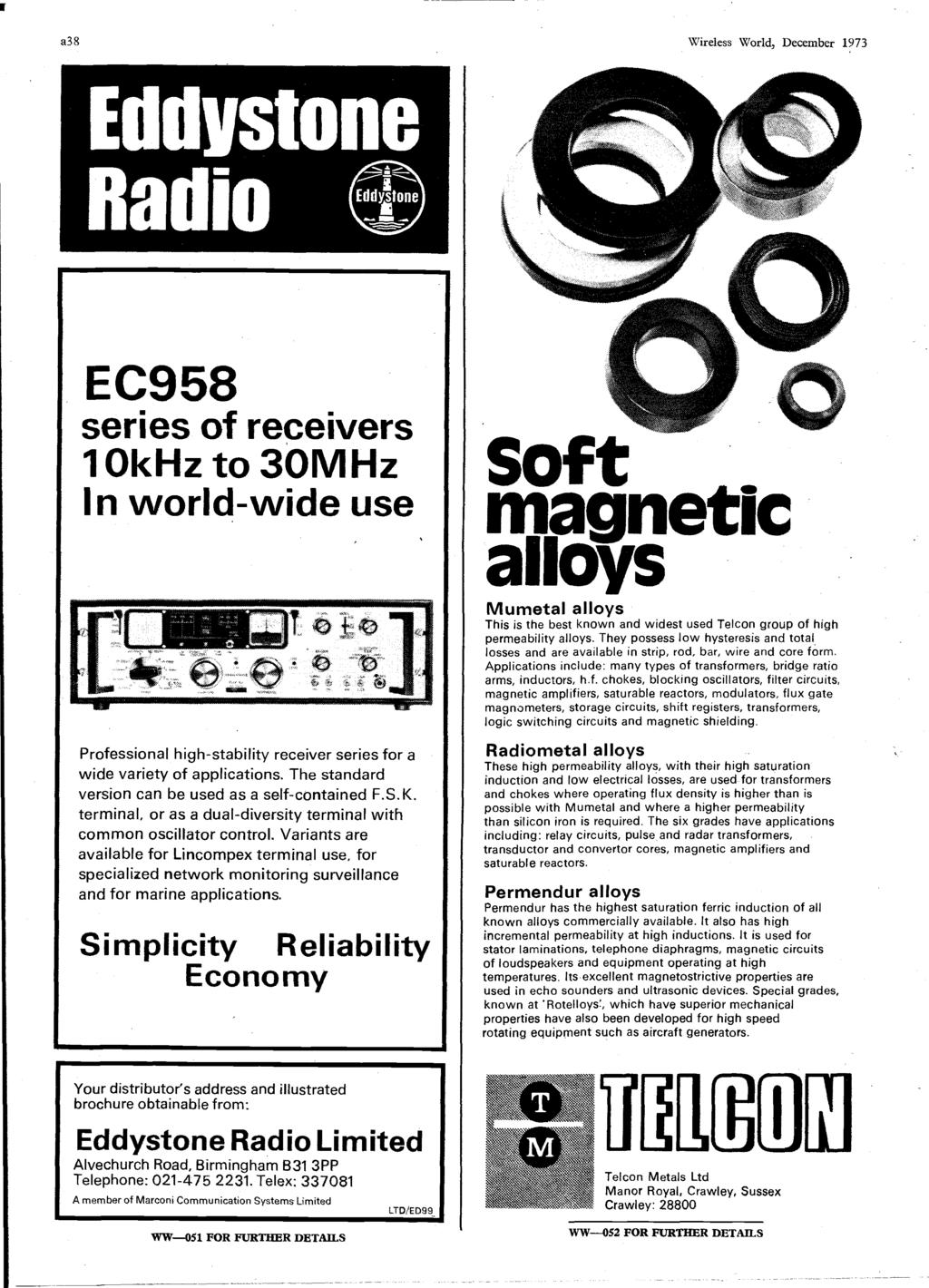 Word Ic Crossover Networks Using Opto Couplers December P Pdf High Gain Listening Circuit Spy Schematic Amplifier 386 A38 Wireless World 1973 I R Ec958 Series Of Receivers 10khz To 30mhz