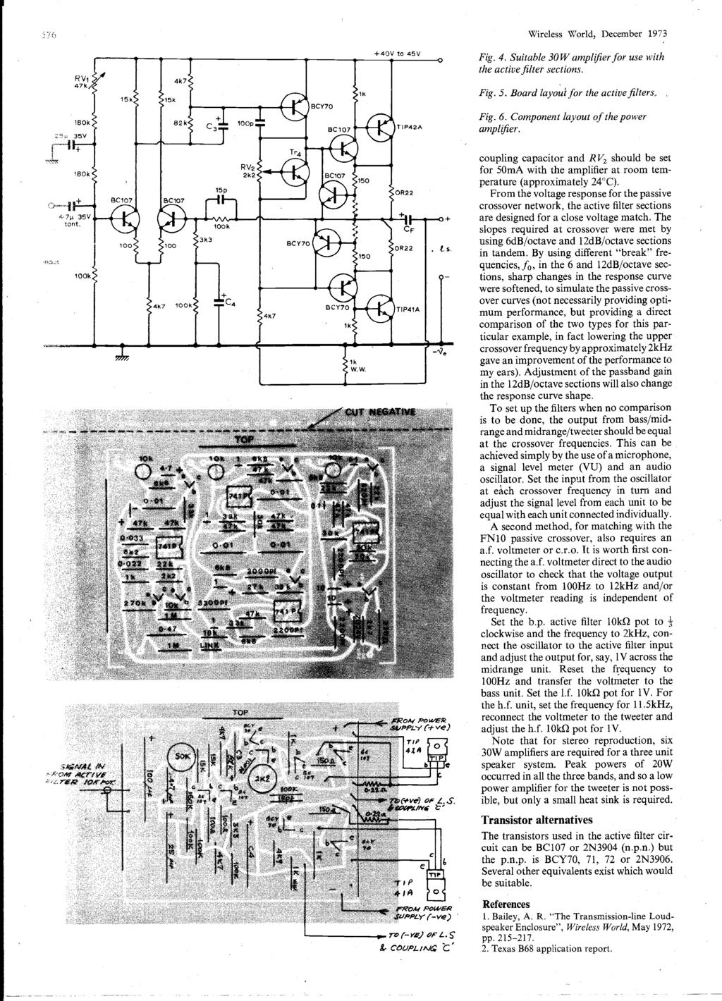 Word Ic Crossover Networks Using Opto Couplers December P Pdf Wiring Diagram Car Mono Amplifier Tda2040 Real Auto Tips 57i Wireless World 1973 R V1 47k 40v To 45v Fig