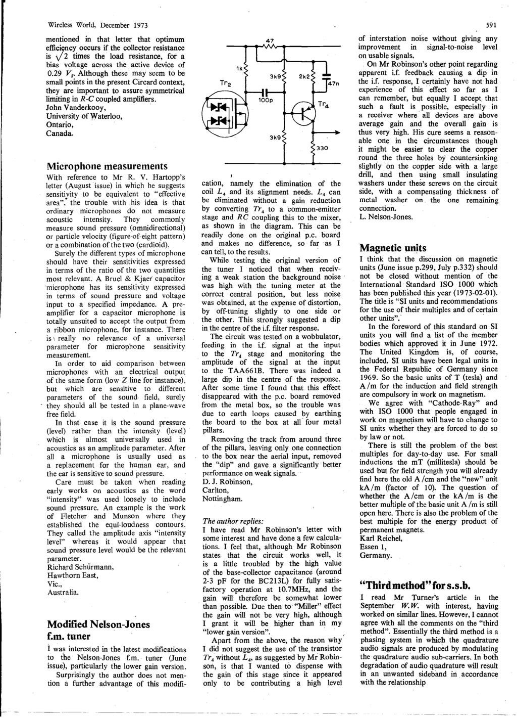 Word Ic Crossover Networks Using Opto Couplers December P Pdf Modify Old Battery Charger Into Automatic Power Scr And Ca723 Wireless World 1973 Mentioned In That Letter Optimum Efficiency Occurs If The Collector