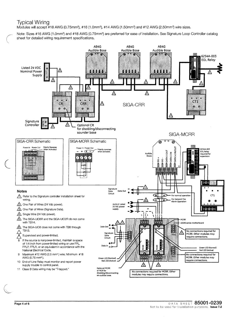 Proposed Fire Alarm I Mass Notification System Pdf Audible Relay Wiring Diagram Typical Modules Will Accept 18 Awg 0 75mm2