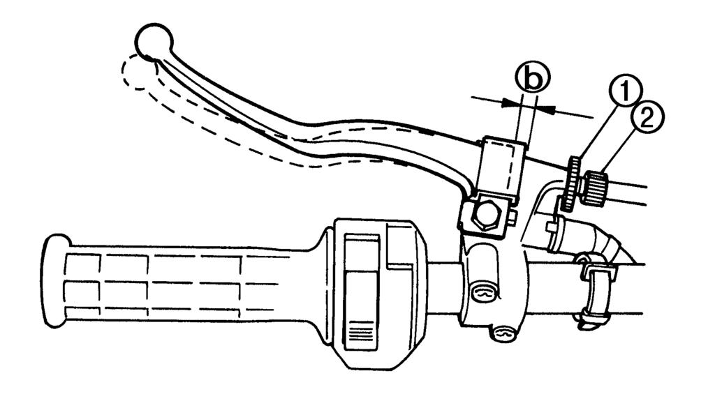 yfm250xl c service manual pdf Honda NX 125 04 in 5 rake cam lever 6 pin turn out the brake lever cable adjuster