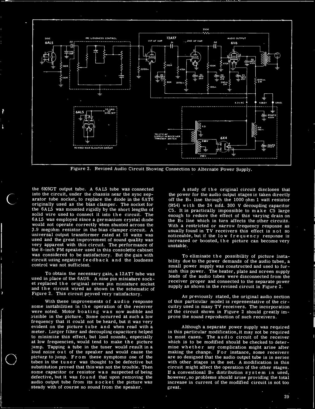 29 Covering Photofact Pdf Charging Circuit Diagram For The 1947 Studebaker All Models Revised Audio Showing Connection To Alternate Power Supply 6k6gt Output Tube