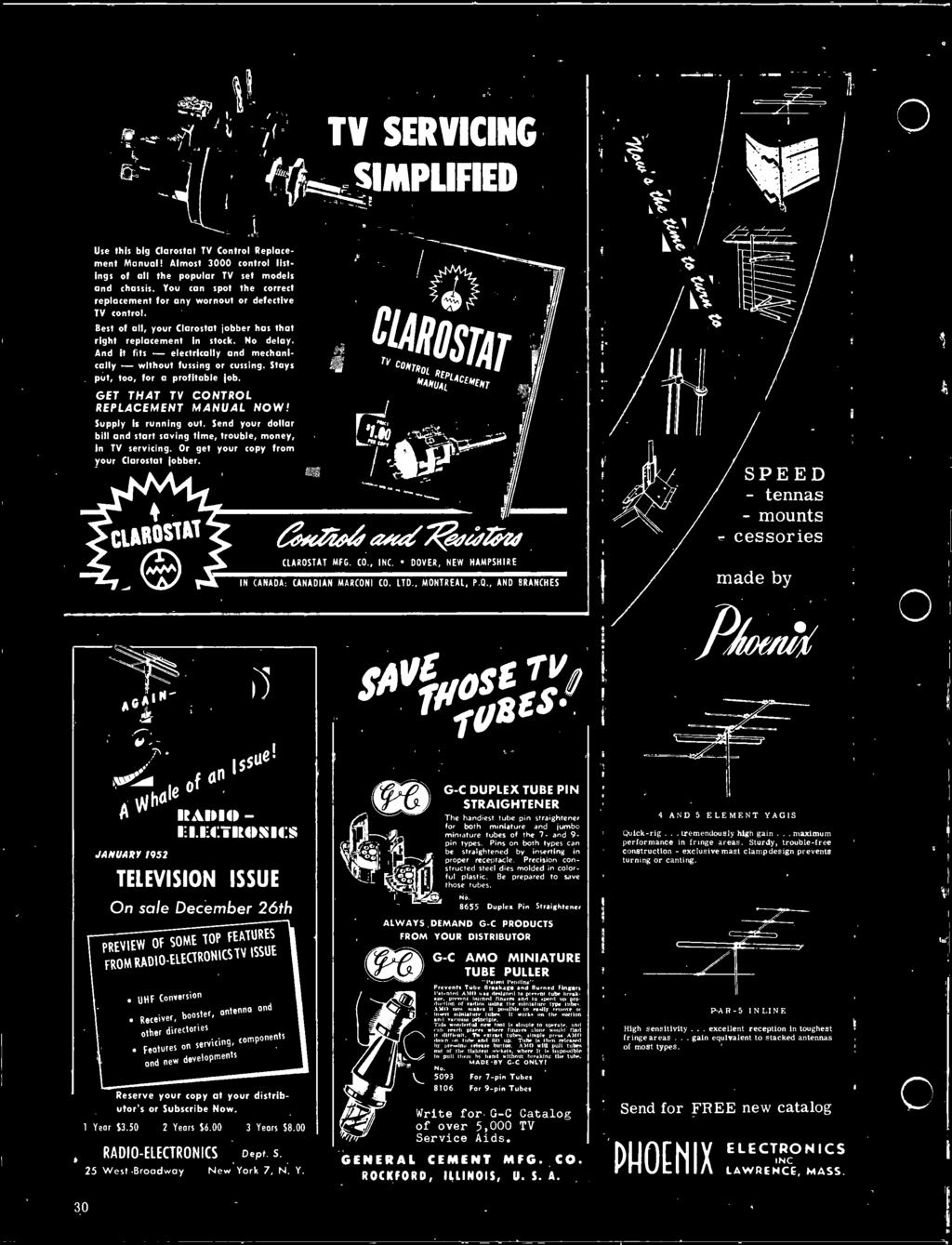 29 Covering Photofact Pdf Ic 484 Am Radio Receiver D70 Clarostat Mfg Co Inc Dover New Hampshire In