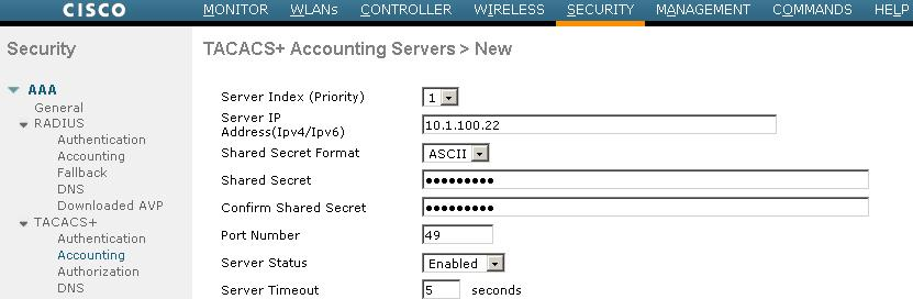 ISE TACACS+ Configuration Guide for Wireless LAN Controllers