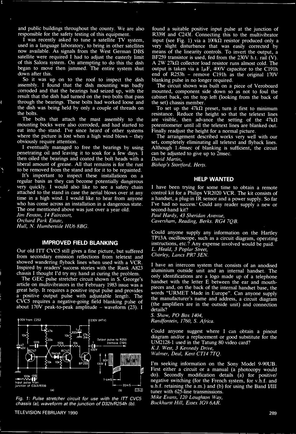 Free Transistor Pack Plus Pdf Oliver 1850 Wiring Diagram Download Schematic I Found That The Dish Mounting Was Badly Corroded And Bearings Had Seized Up