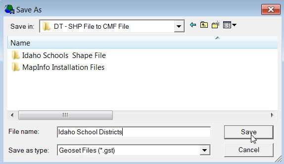 Converting an Esri Shapefile ( SHP) to a Cognos Map File
