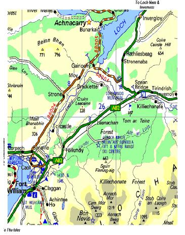 Lochaber Scotland Map.Map Of Lochaber Cameron Country The Cameron Kids Highlands Of