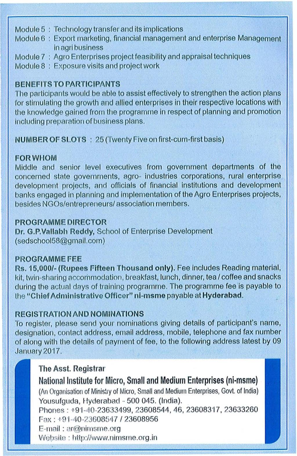 SuiJ : Request for nominations for the Programme on