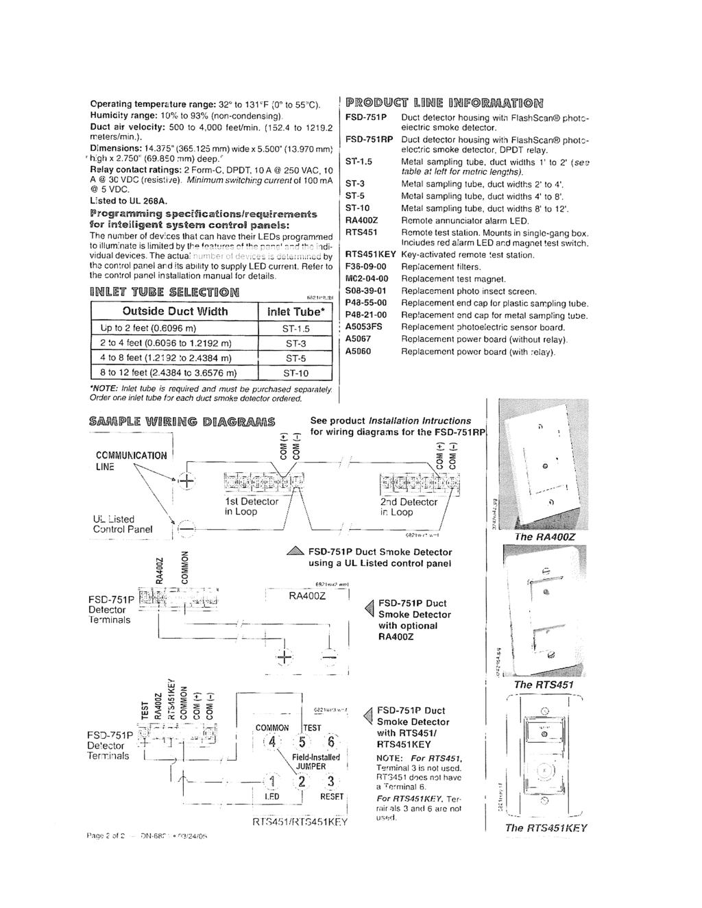 Contract Specifications Pdf Fsl Wiring To A Pir Without Builtin Resistors Operating Temperature Range 32 131f 0 55c
