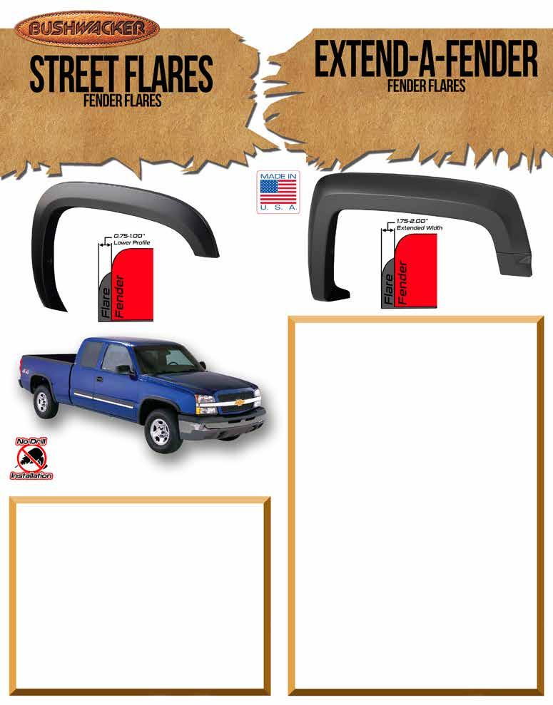Front Fender Compatible with Chevrolet GMC Oldsmobile with Flare Holes /& ZR2 Package Driver and Passenger Side