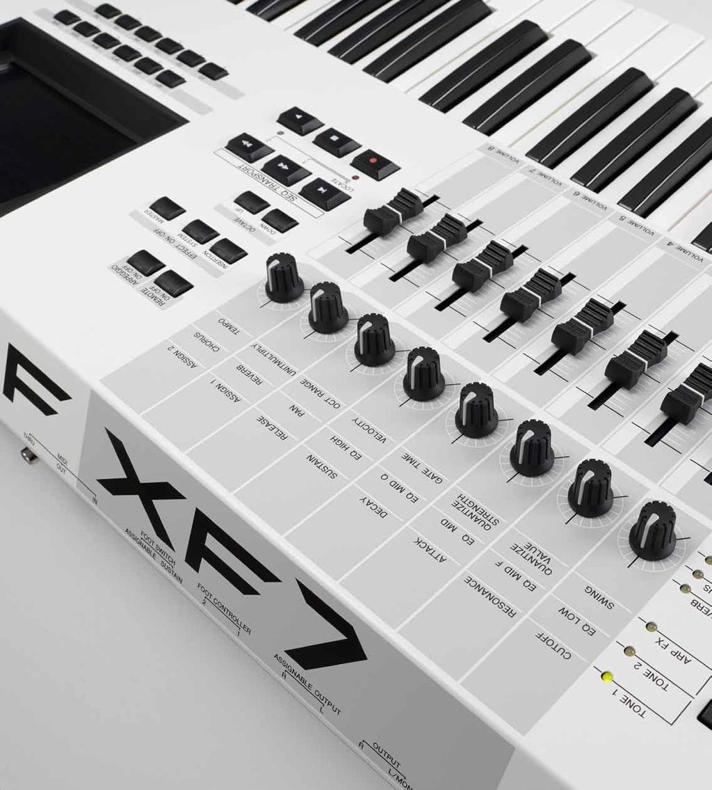 available! MUSIC PRODUCTION GUIDE Contents MOTIF XF White