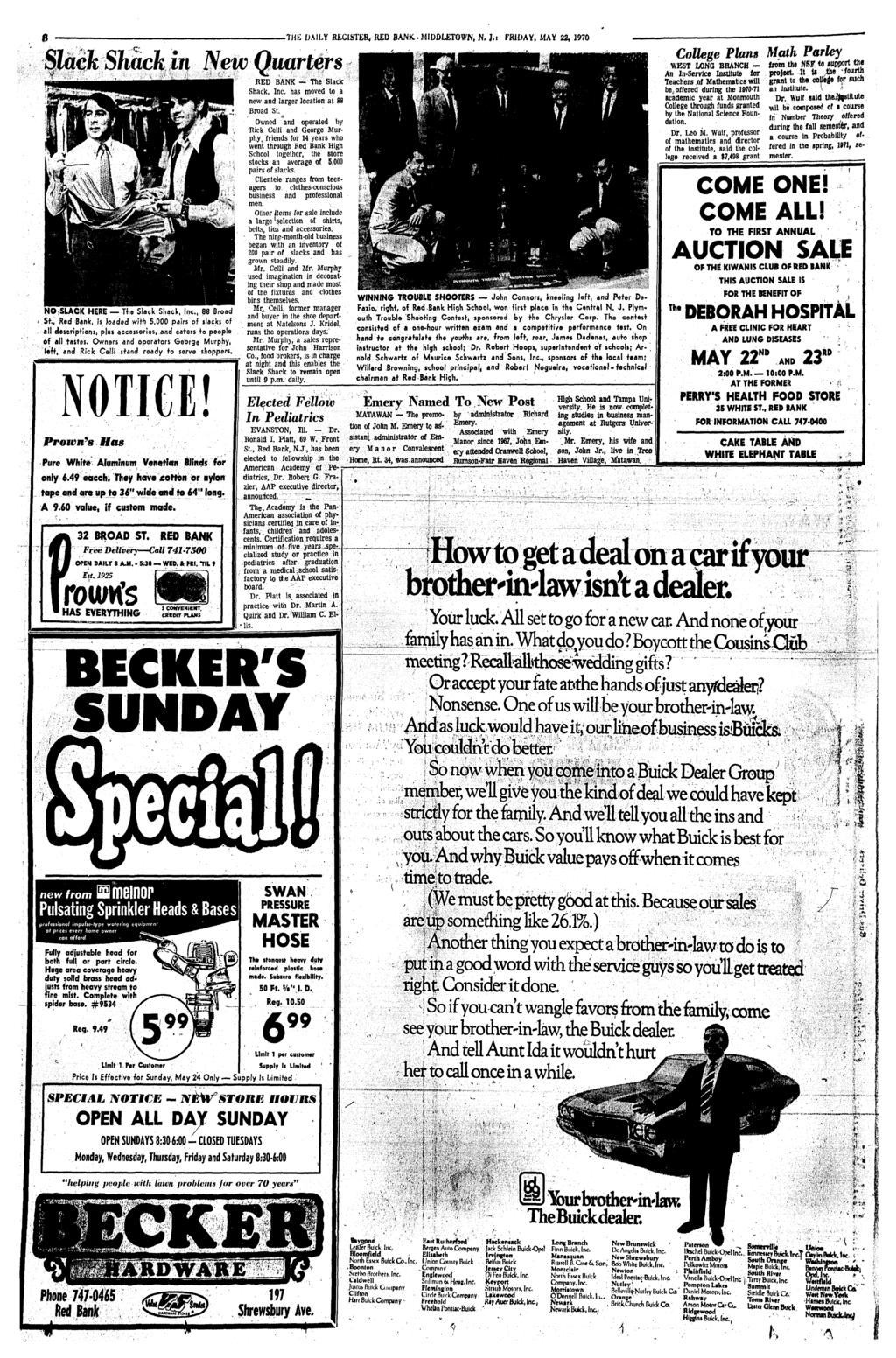 b6d7f09c Monmouth County's Home Newspaper for 92 Years RED BANK, N. J. ...