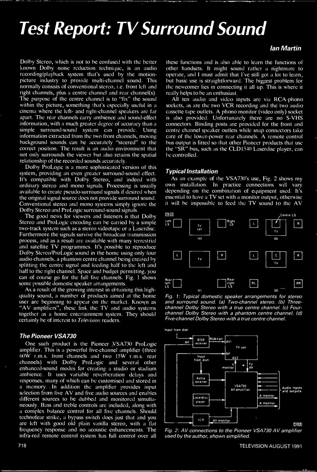 Tfieuision Servicingprwectsvideodevelopments Free 16 Page Catalogue Schematic Audio Power Amplifier With Ic An7106k Using Information Extracted From The Two Front Channels Moving Background Sounds Can Be Accurately