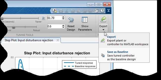 Tune PID Controller to Favor Reference Tracking or
