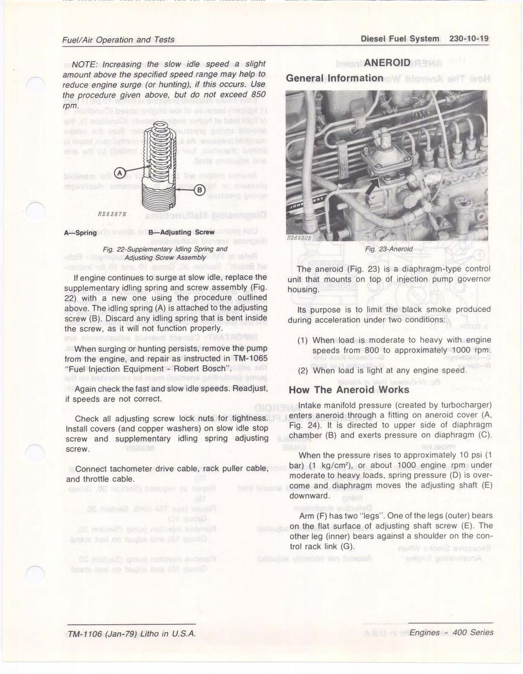 Section 230 FUEL/AIR OPERATION AND TESTS CONTENTS OF THIS SECTION - PDF