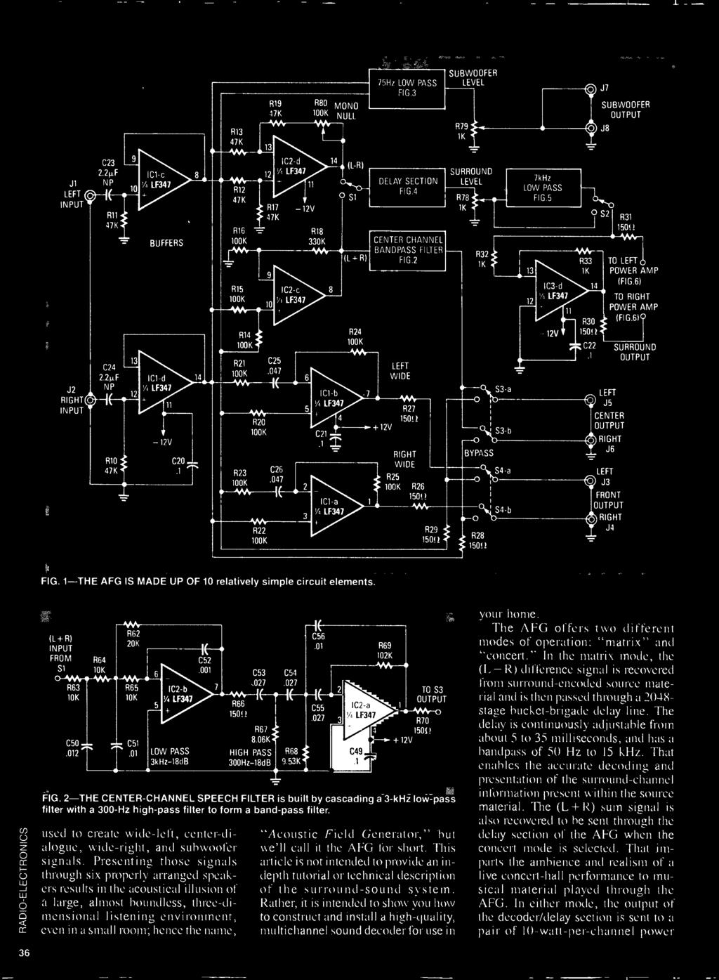 Build R Es Acoustic Pdf Schematics Of Delabs Isolated Dual Power Supply From 5v 047 946 2 R22 100k 5 C21 Ici B Lf347 4 Z
