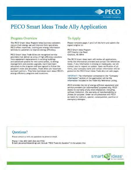 PECO Smart Ideas for Your Business Trade Ally and Contractor