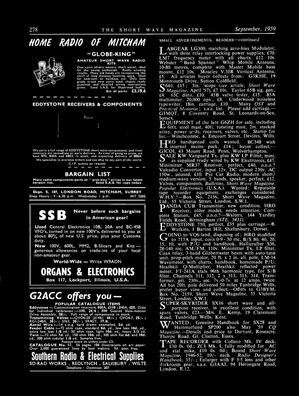 7 1 Short Wave Vol Xvii September Number For The Radio Amateur Builder Audio Amplifier6 Simple Circuits Only Best Grade Brand New Parts Used Chassis Ready Punched And Detailed Wiring Instructions