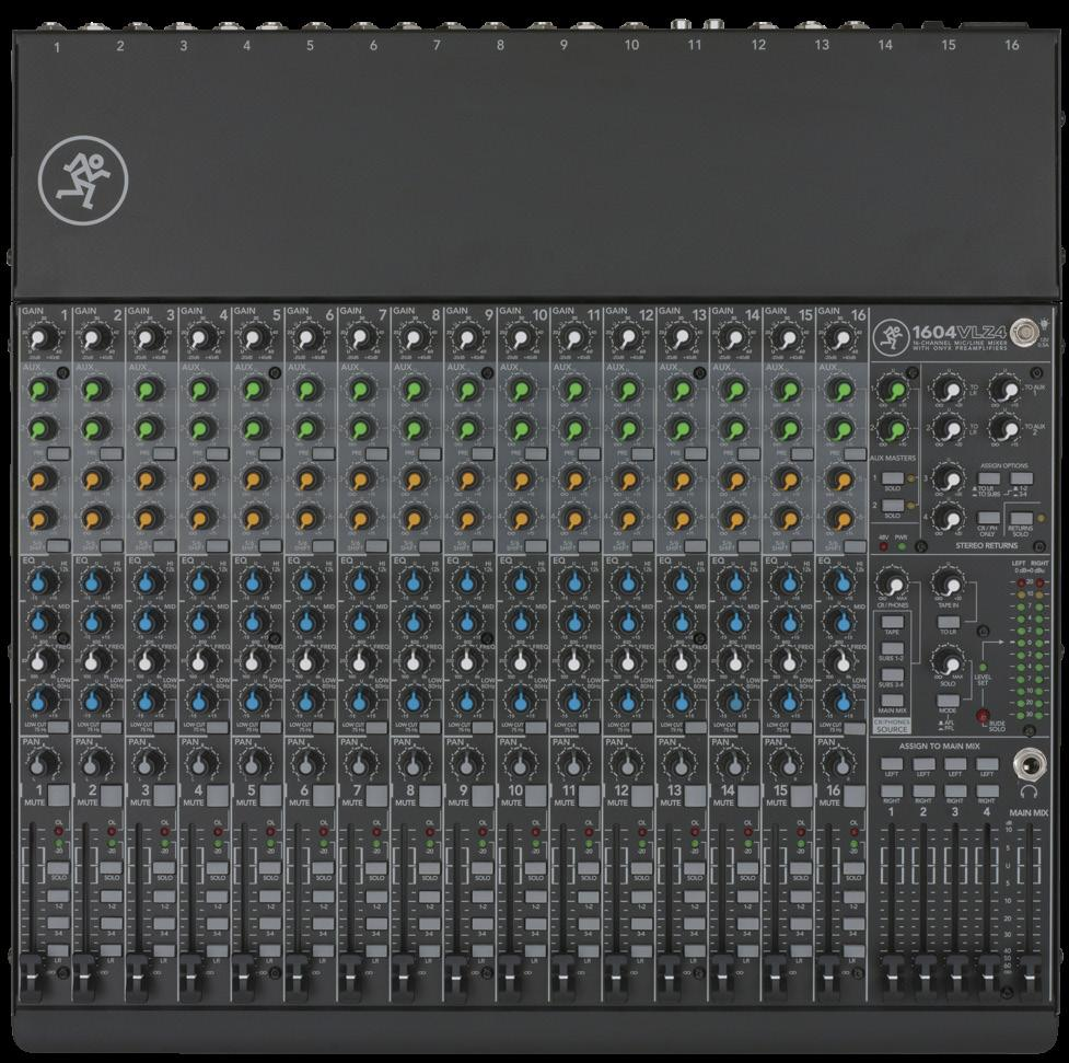 1604vlz4 16 Channel 4 Bus Compact Mixer Features Ultrasimple Monoin Panning Circuit Schematic 1604vz4 Featues Featuring Our Signature High Headroom Low
