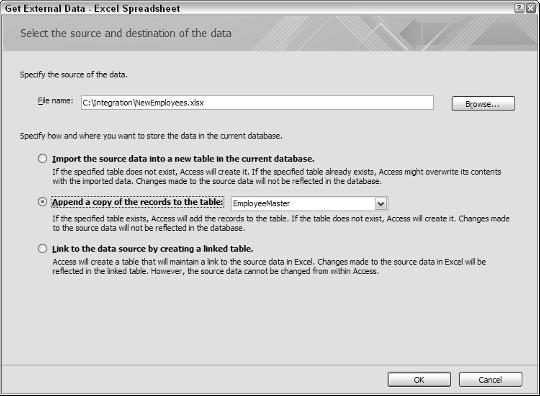 Getting Excel Data into Access - PDF