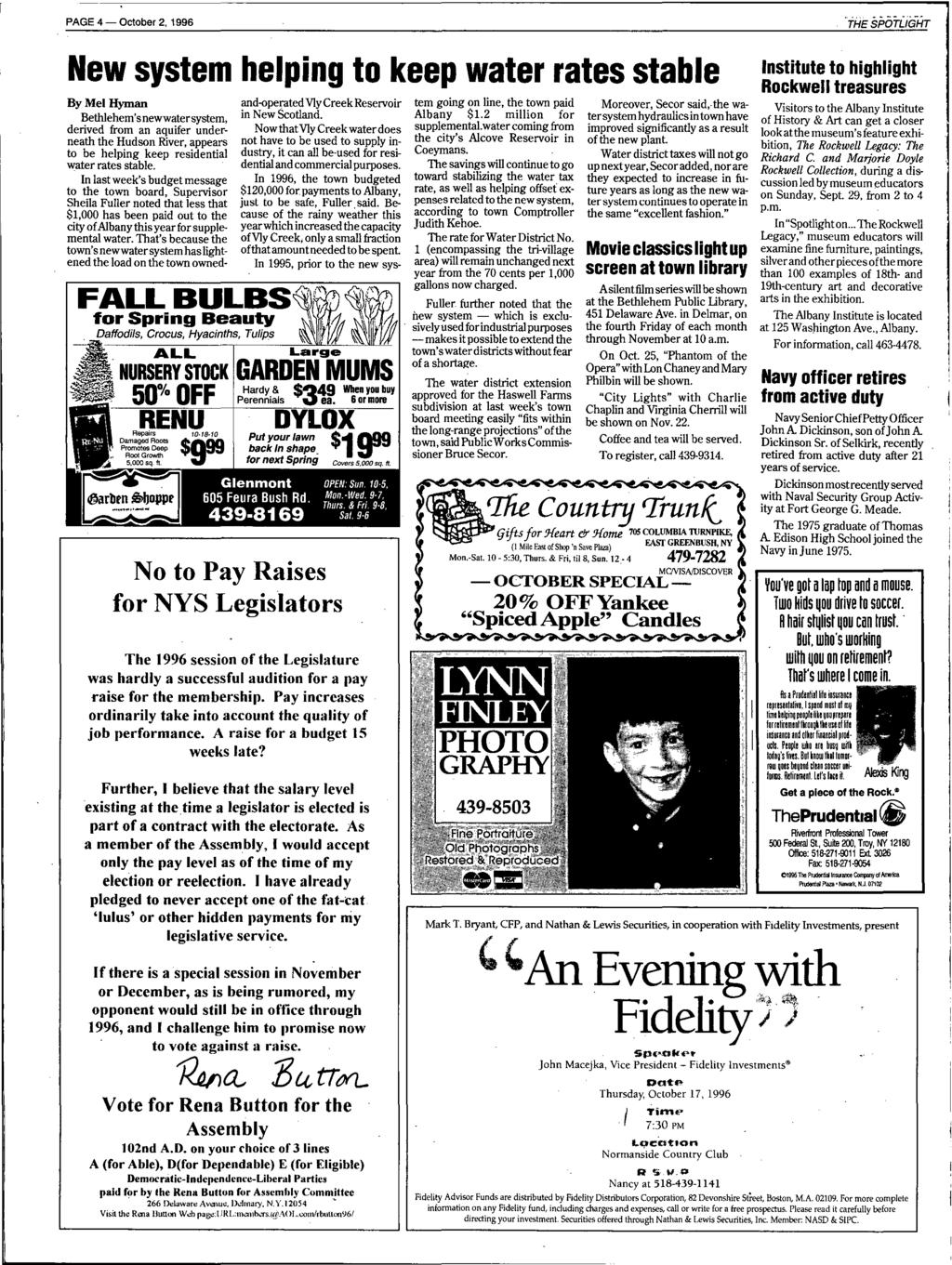 Tree To Return Bethlehem Library Committee Restores Revises Old Jeep Patriot Fuse Box Cavity Numbers Page 4 October 2 1996 New System Helping Keep Water Rates Stable By