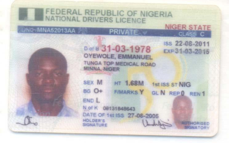 nigeria drivers license renewal price