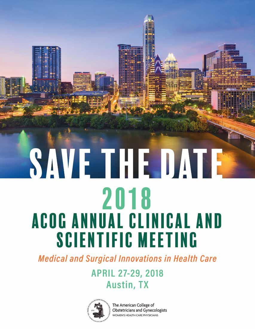 ANNUAL CLINICAL AND SCIENTIFIC MEETING SAN DIEGO, CA MAY 6 9, 2017