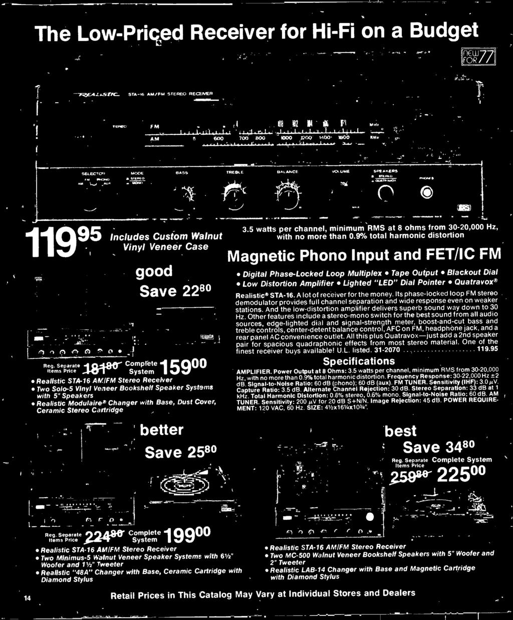 1977 Electronics Catalog Pdf Fm Stereo Demodulator Of Rf Circuit Using Ic Lm1800 Separate Complete Items Price S Stem Realistic Sta 16 Am Receiver Two