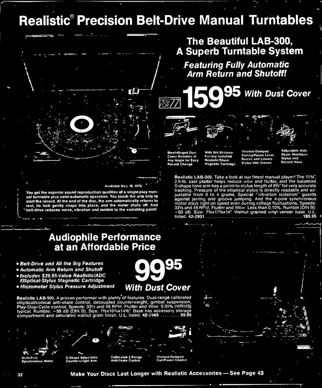 1977 Electronics Catalog Pdf Atwood Water Heater Service Kit 91367 Circuit Board And Wiring Harness At The End Of Disc Arm Automatically Returns To Rest Its Lock