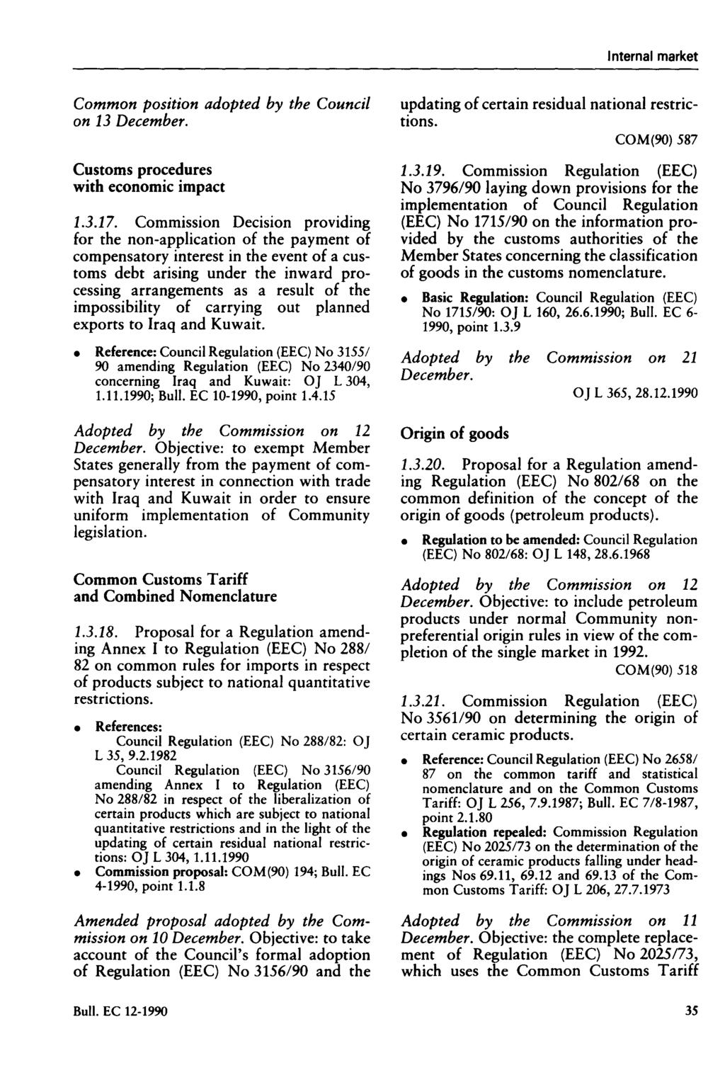 Bulletin  of the European Communities  No Commission
