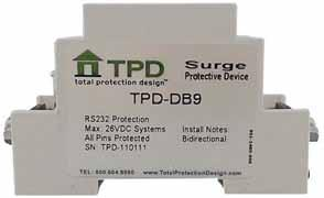 TOTAL PROTECTION SOLUTIONS TK-CT2-24SLP6-DIN2 Signal Protector 24V-AC
