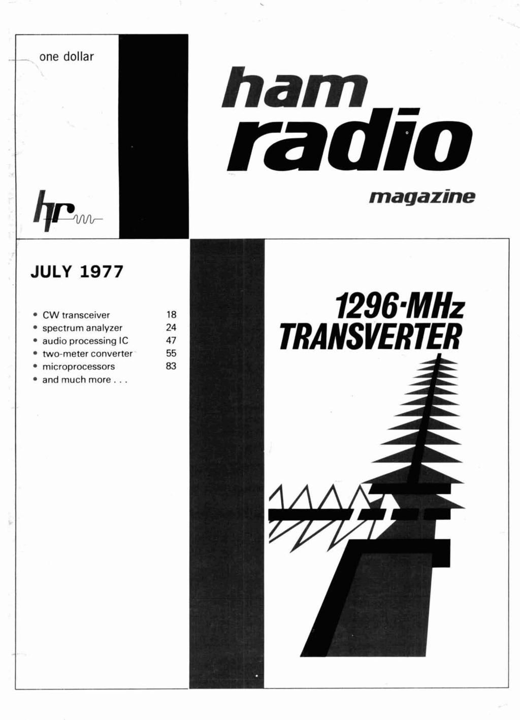 ham radjo magazine JULY CW transceiver TRANSVERTER spectrum